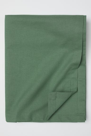 Cotton tablecloth - Green - Home All | H&M IE