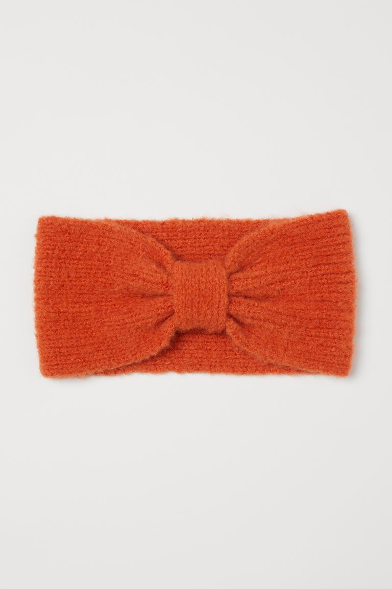 Knit Headband - Dark orange - Ladies | H&M US