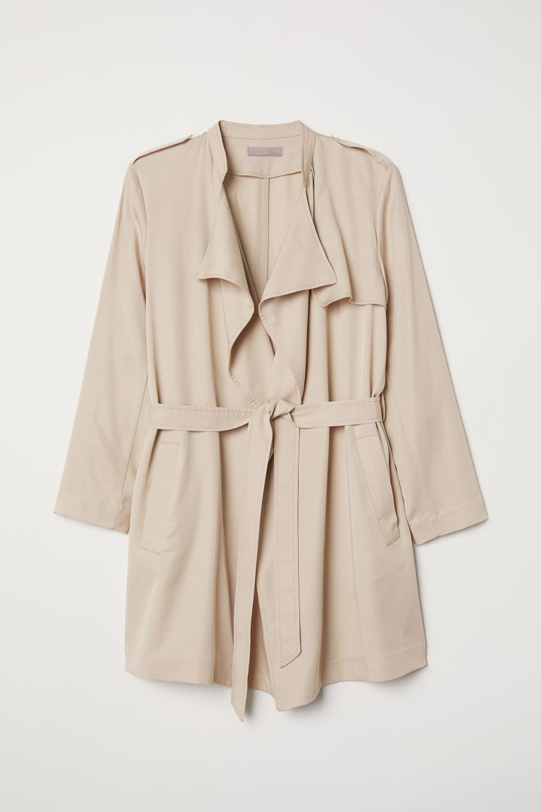 H&M+ Trench corto in lyocell - Beige - DONNA | H&M IT