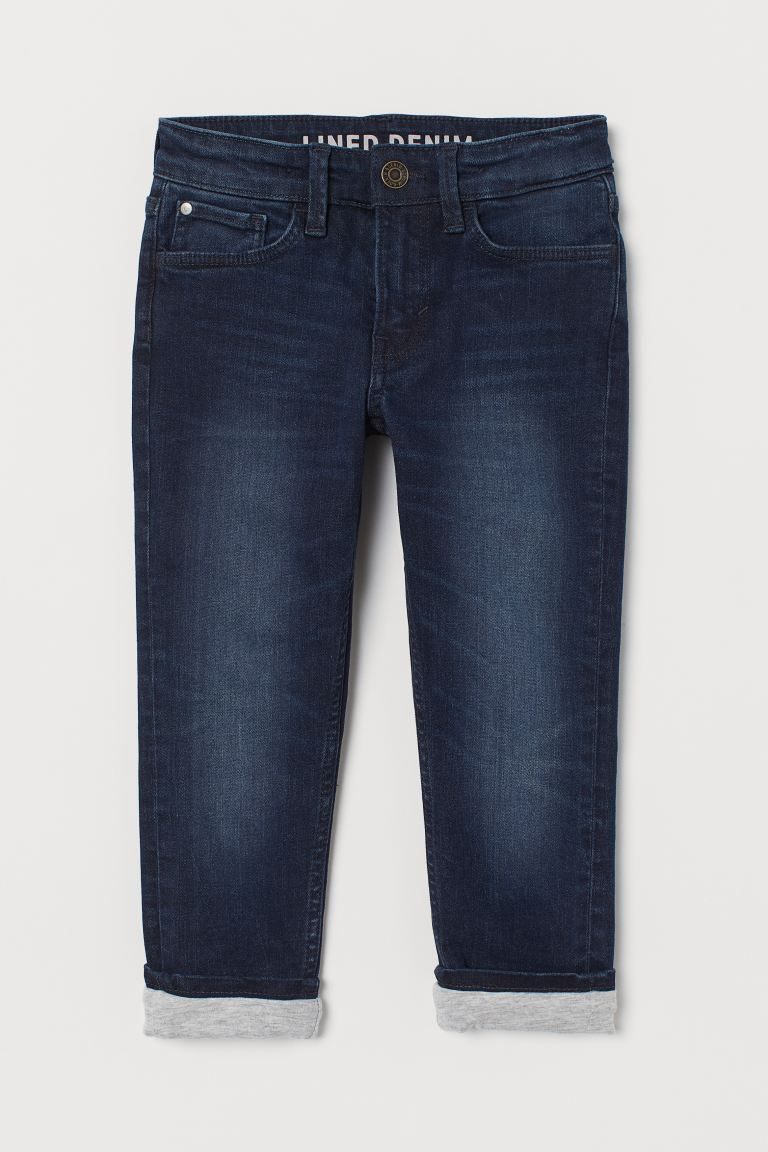 Skinny Fit Lined Jeans - Dunkelblau -  | H&M CH