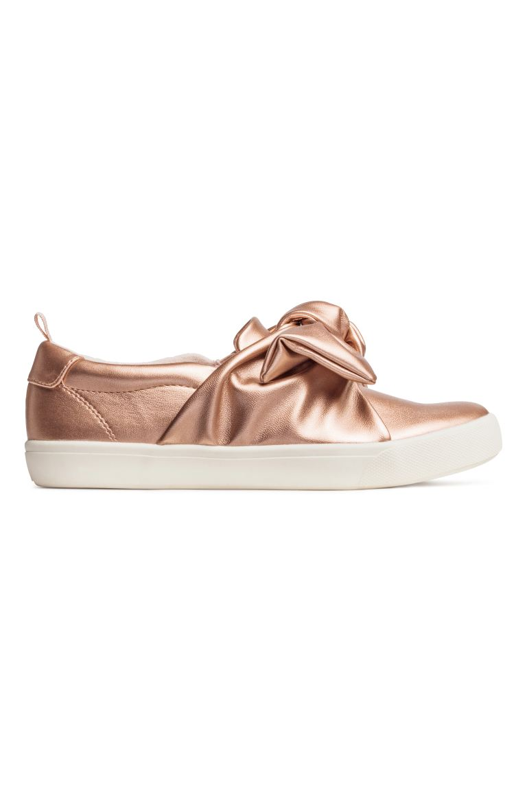 Knot-detail trainers - Rose gold-coloured - Kids | H&M
