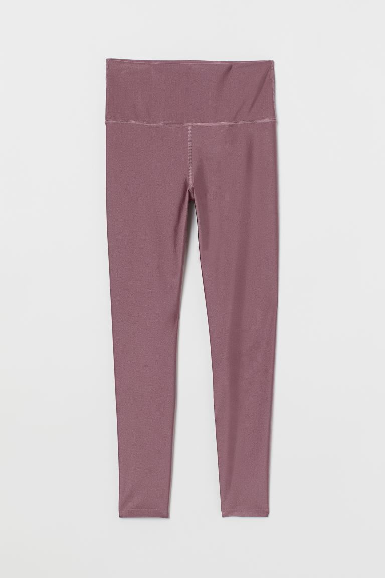 Leggings desporto High Waist - Urze/Brilhante - SENHORA | H&M PT
