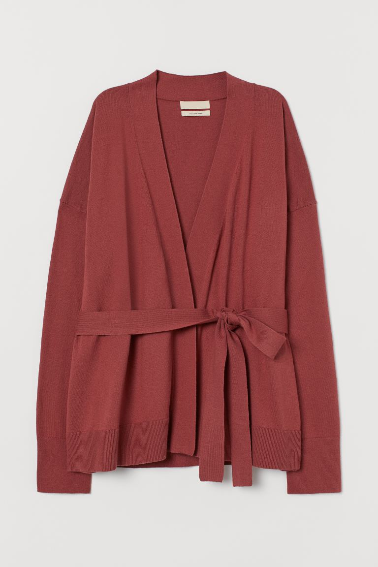 Cashmere-blend Cardigan - Marsala red - Ladies | H&M CA
