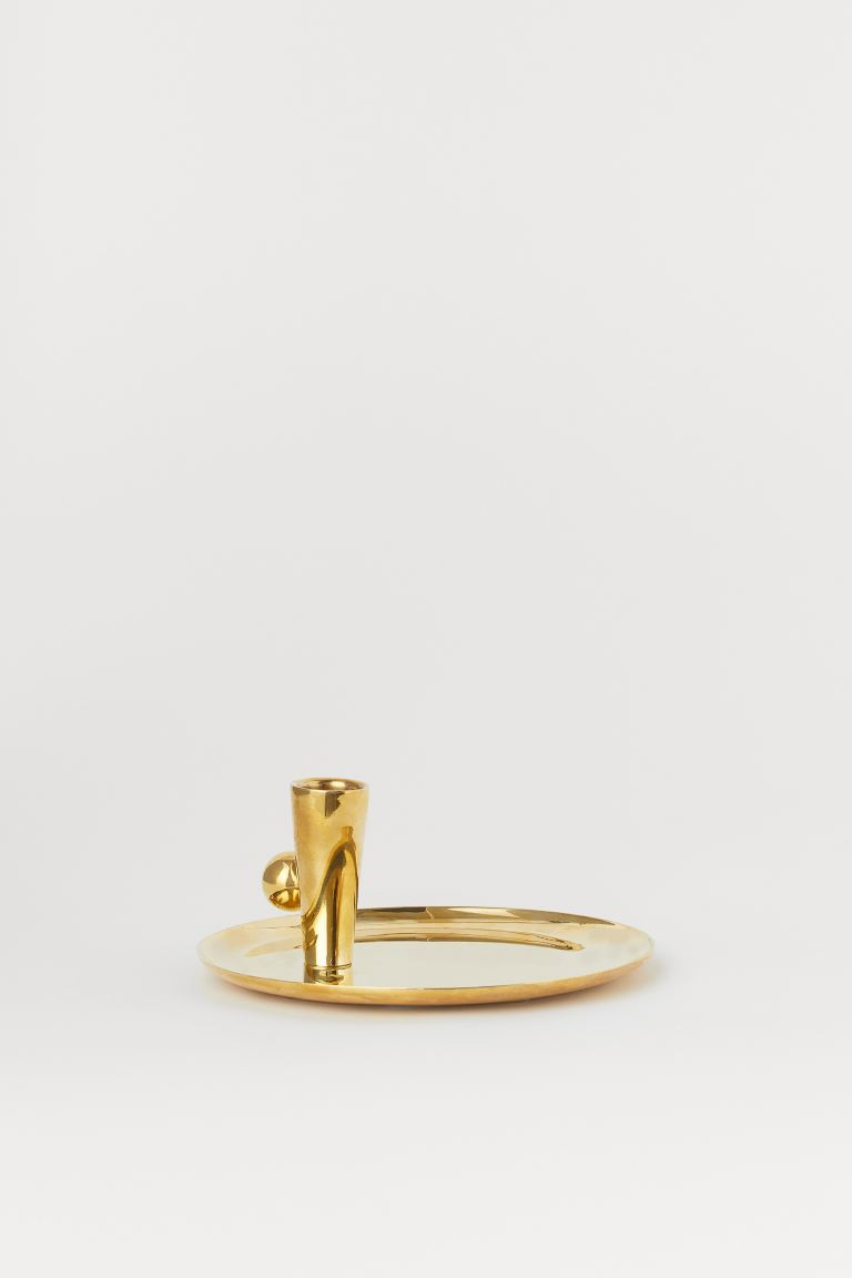 Brass Candlestick - Gold-colored - Home All | H&M US