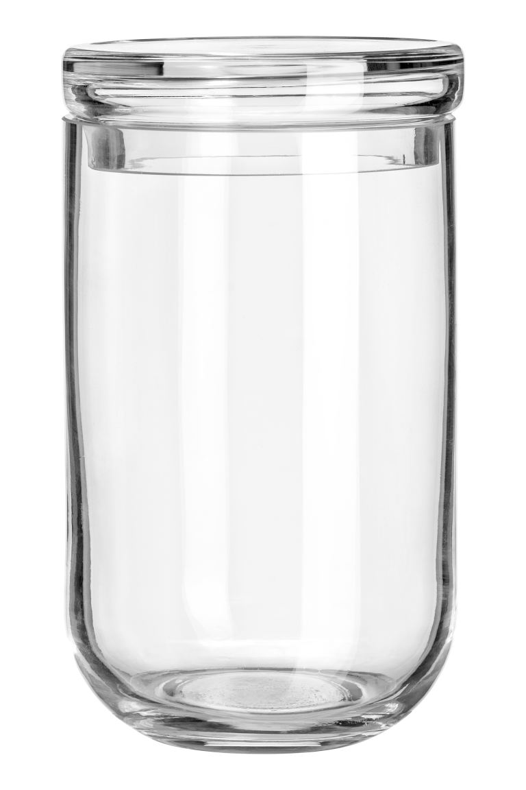 Large glass jar with a lid - Clear glass - Home All | H&M GB