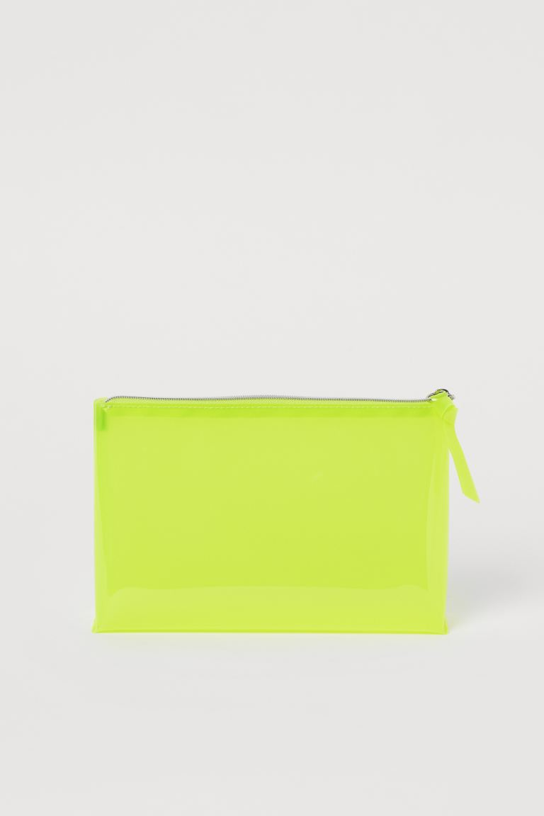 Transparent Makeup Bag - Neon yellow - Ladies | H&M US