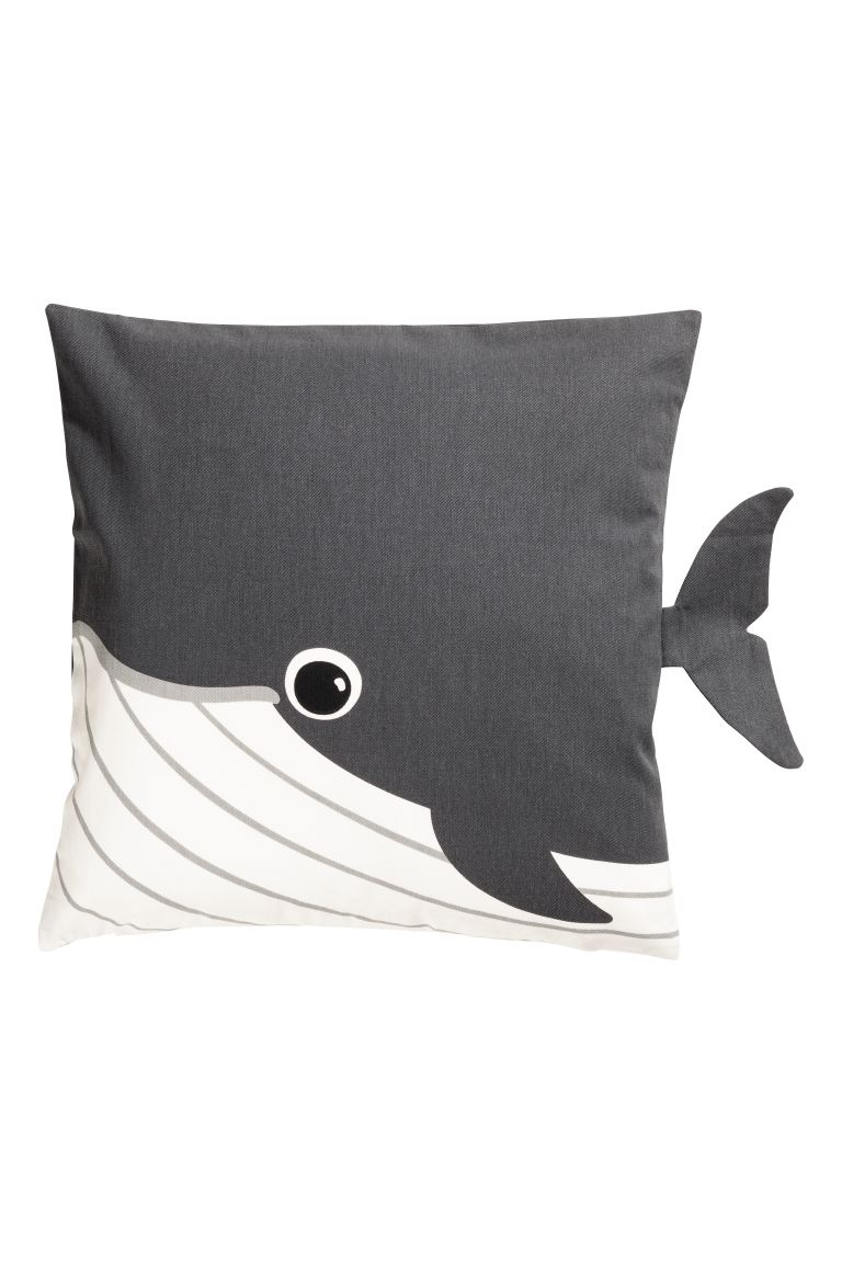 Cotton twill cushion cover - Grey - Home All | H&M IE