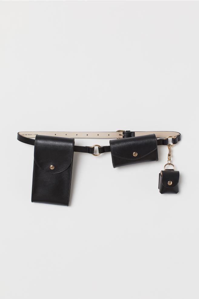 Waist Belt with Bags - Black - Ladies | H&M US 1