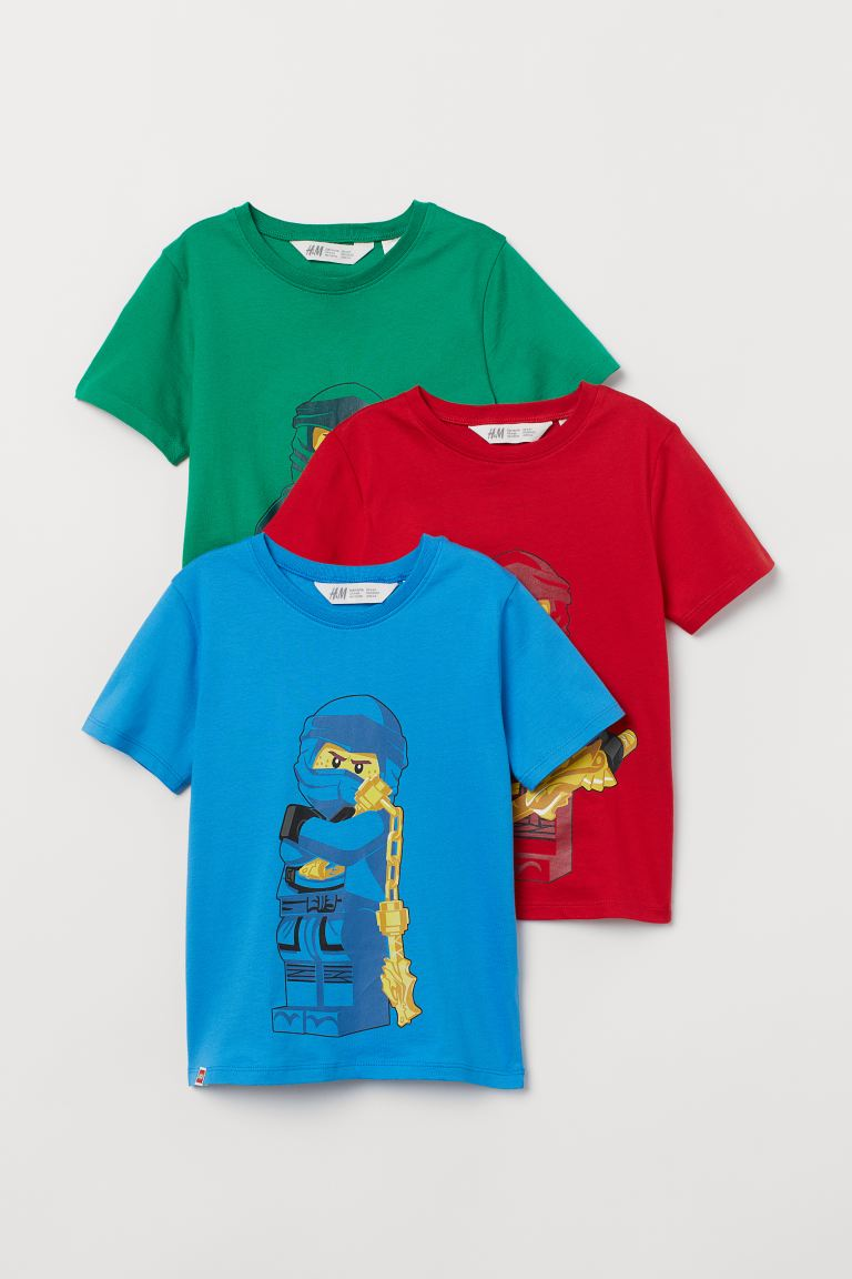 T-shirt con stampa, 3 pz - Rosso/LEGO - BAMBINO | H&M IT