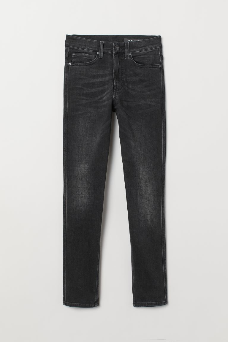 Tech Stretch Slim Jeans - Svart denim - HERR | H&M SE