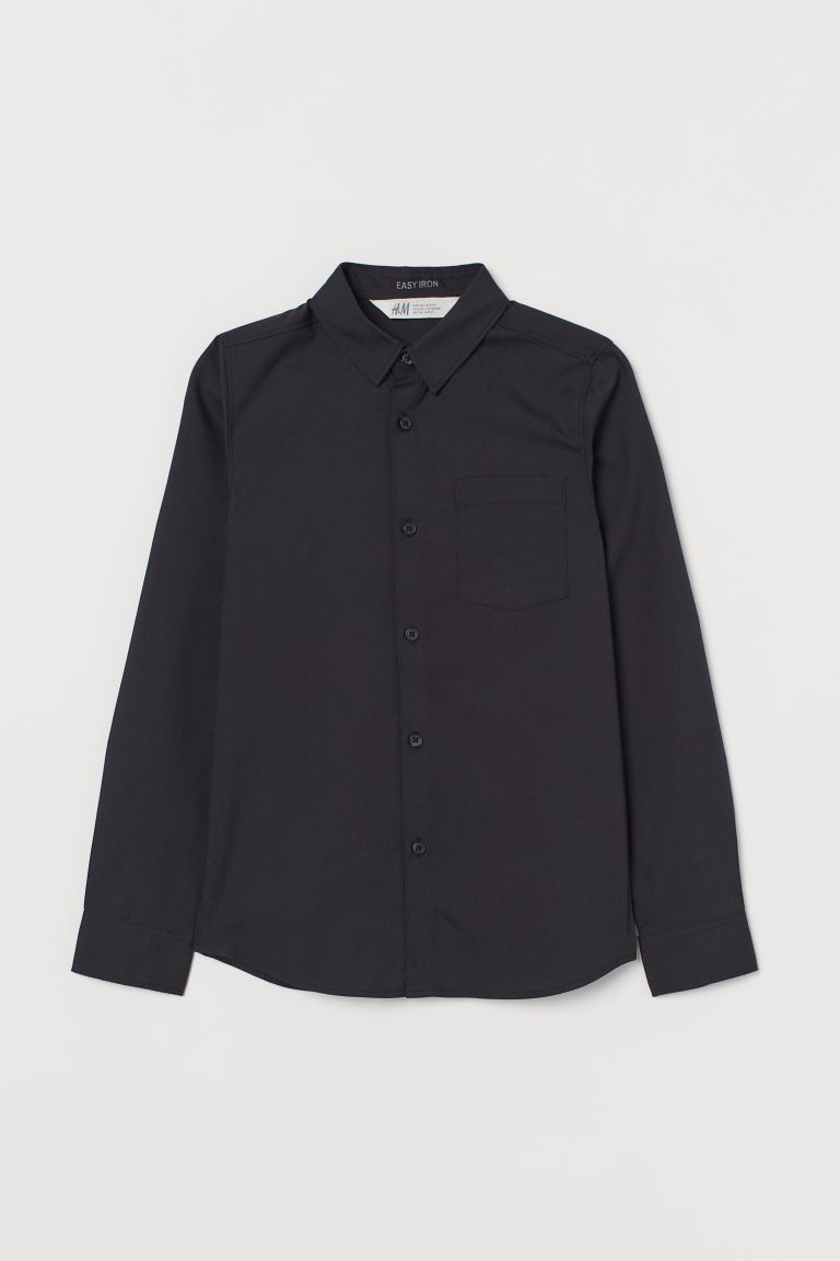 Easy-iron shirt - Black - Kids | H&M
