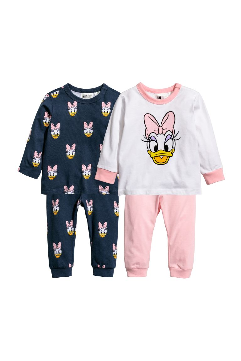 2-pack Jersey Sets - Dark blue/Daisy Duck - Kids | H&M CA