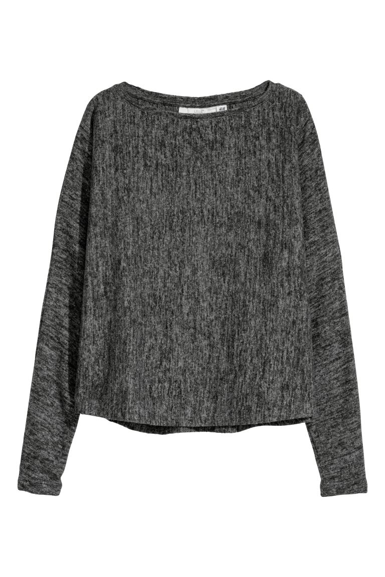 Fine-knit Sweater - Dark gray melange - Ladies | H&M US