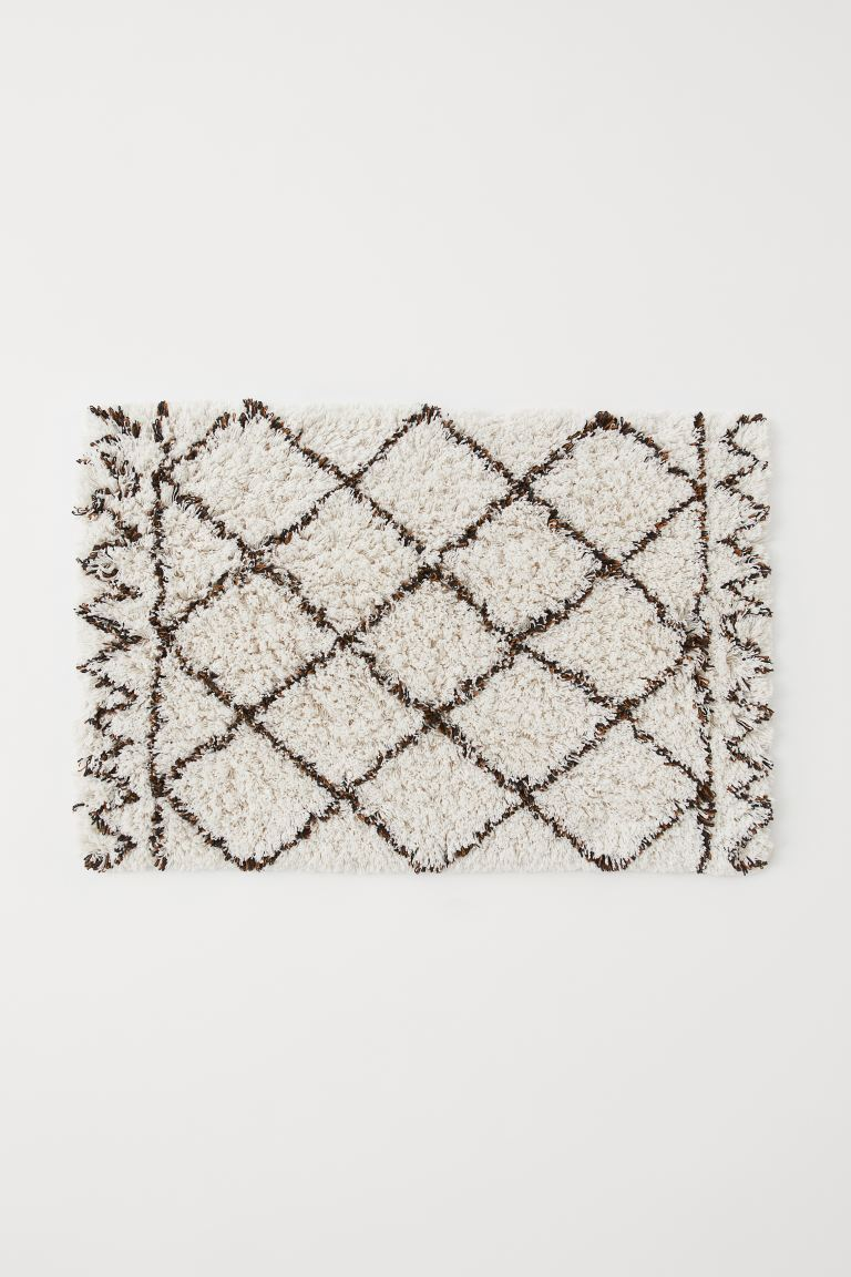 Large bath mat - White/Patterned - Home All | H&M GB