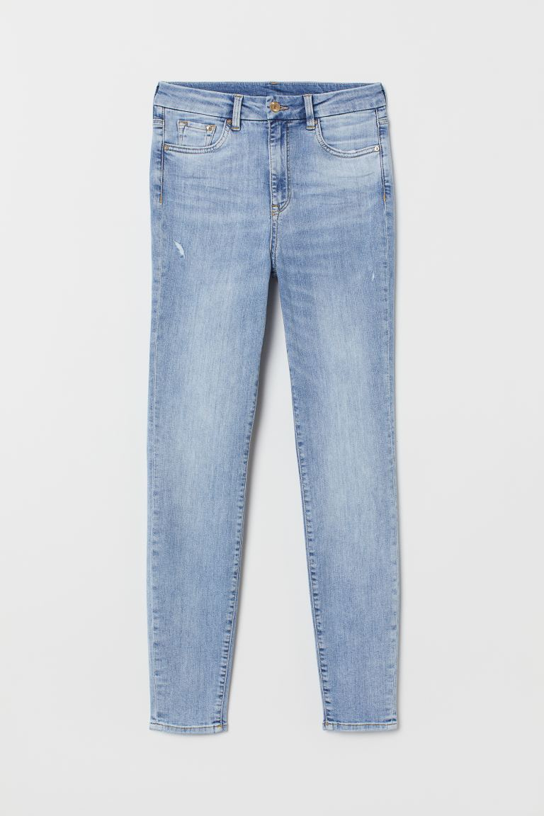 Embrace High Ankle Jeans - Light denim blue - Ladies | H&M GB