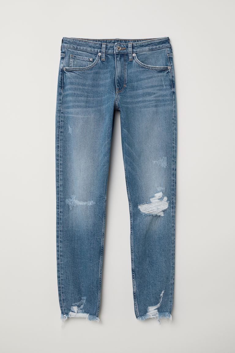 Girlfriend Regular Jeans - Albastru-denim deschis - FEMEI | H&M RO