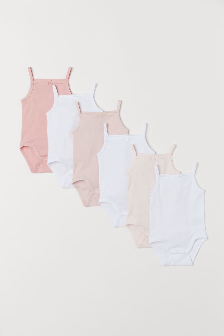 6-pack ermeløs body - Lys rosa -  | H&M NO