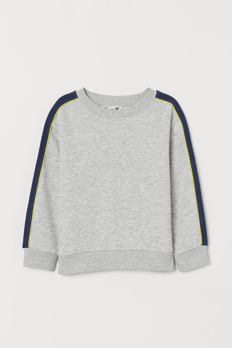Color-block Sweatshirt - Gray melange/dark blue - Kids | H&M US