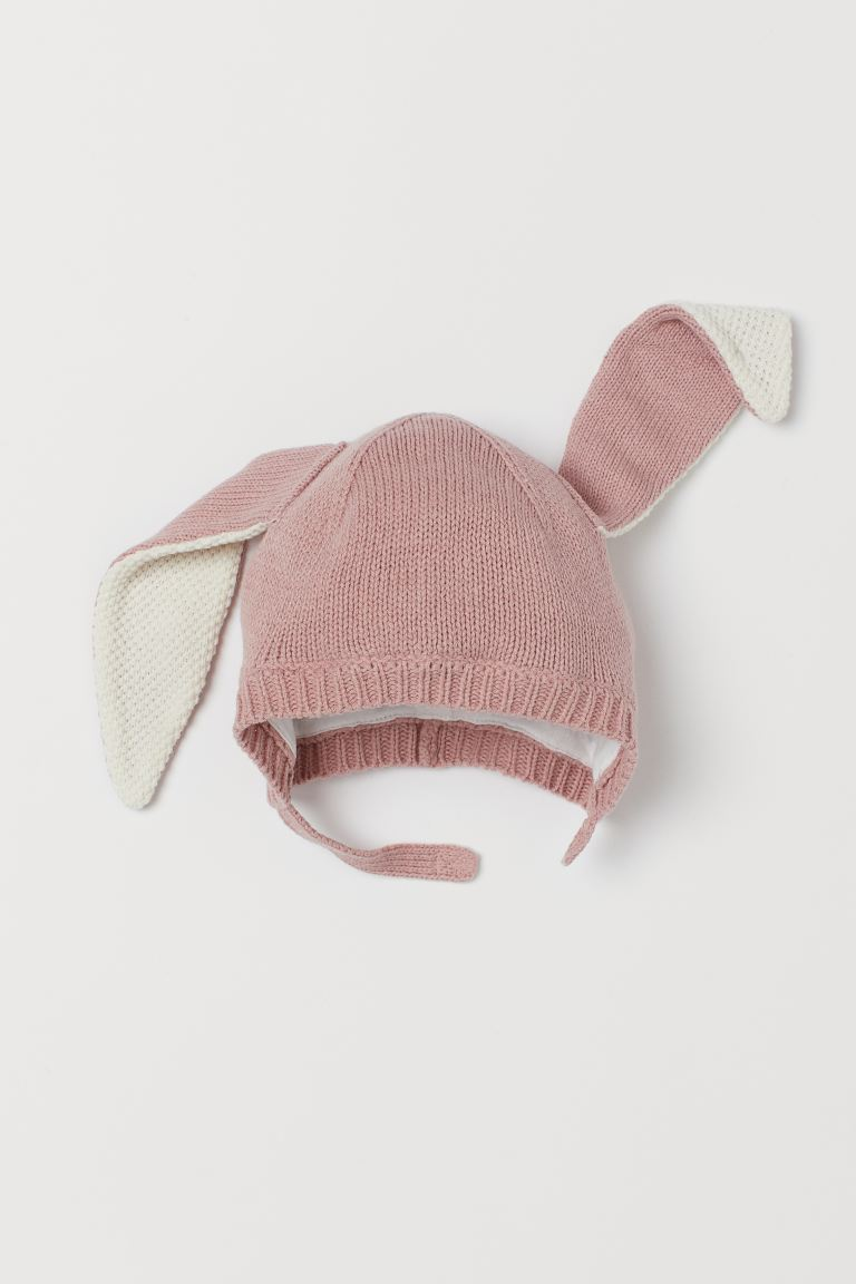Hat with Ears - Dusty rose - Kids | H&M US