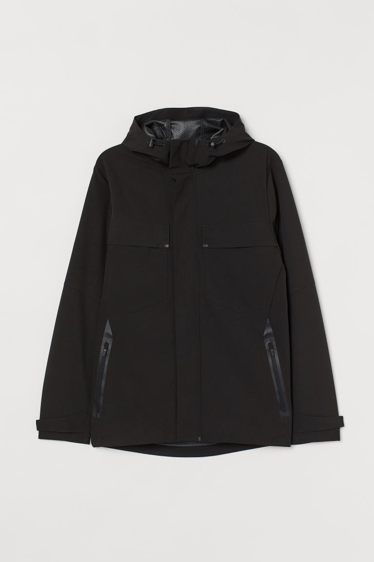 Chamarra impermeable - Negro - Men | H&M US