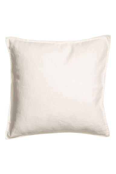 Washed Linen Cushion Cover - White - Home All | H&M US