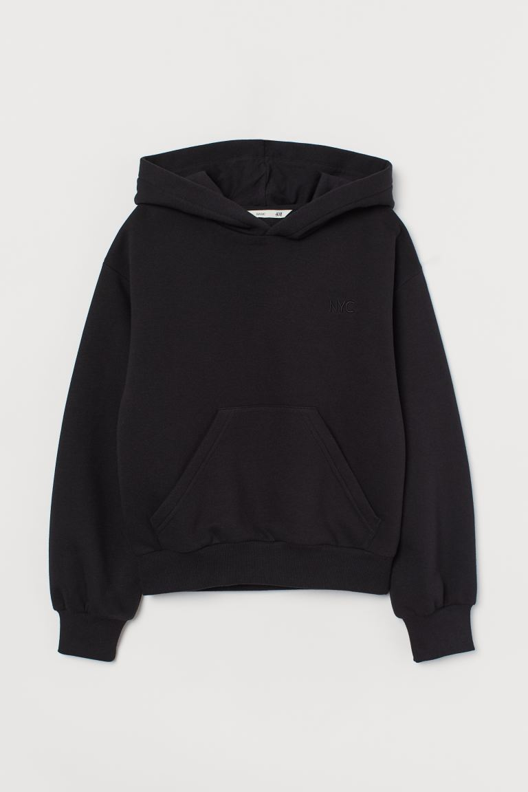 Sweat à capuche - Noir/NYC - ENFANT | H&M FR