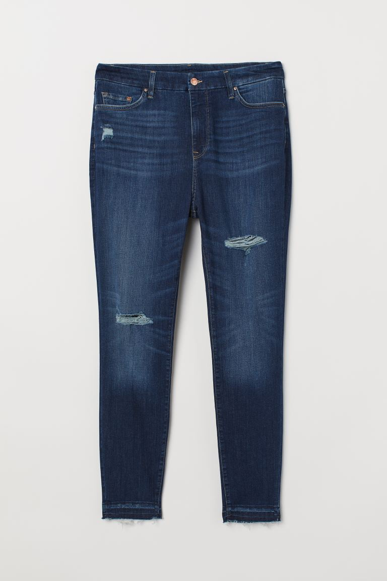 H&M+ Embrace Shape Ankle Jeans - Dark denim blue - Ladies | H&M US