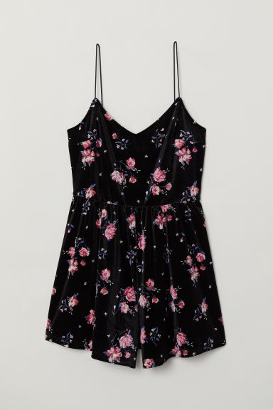 Playsuit - Black/Floral - Ladies | H&M US