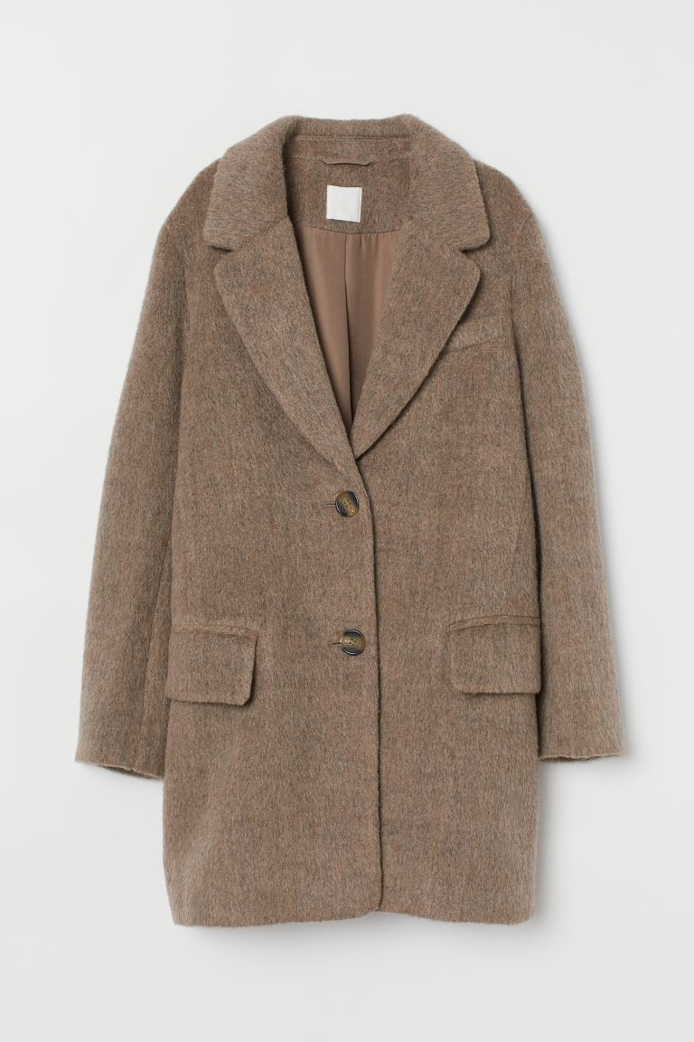 Cappotto corto - Marrone chiaro mélange - DONNA | H&M IT