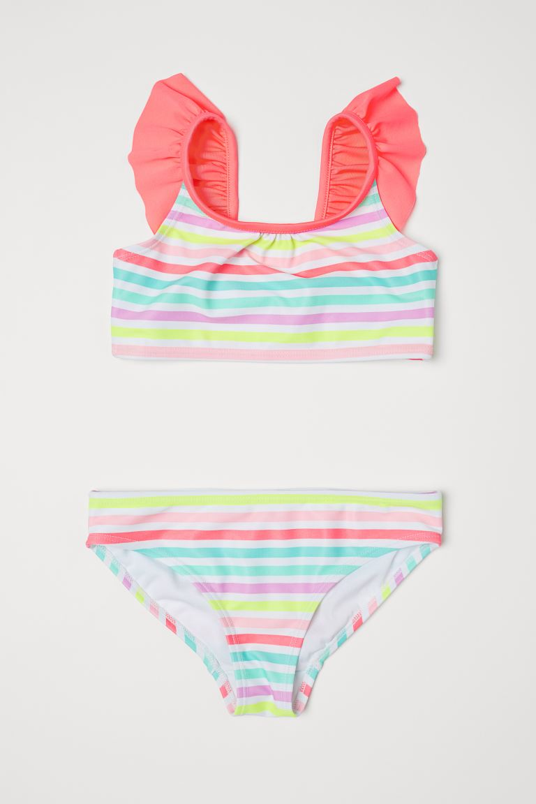 Patterned Bikini - Coral/striped -  | H&M US