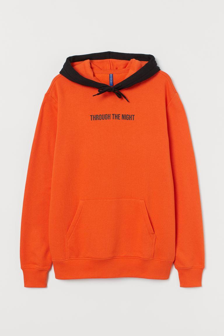 sweat shirt homme orange