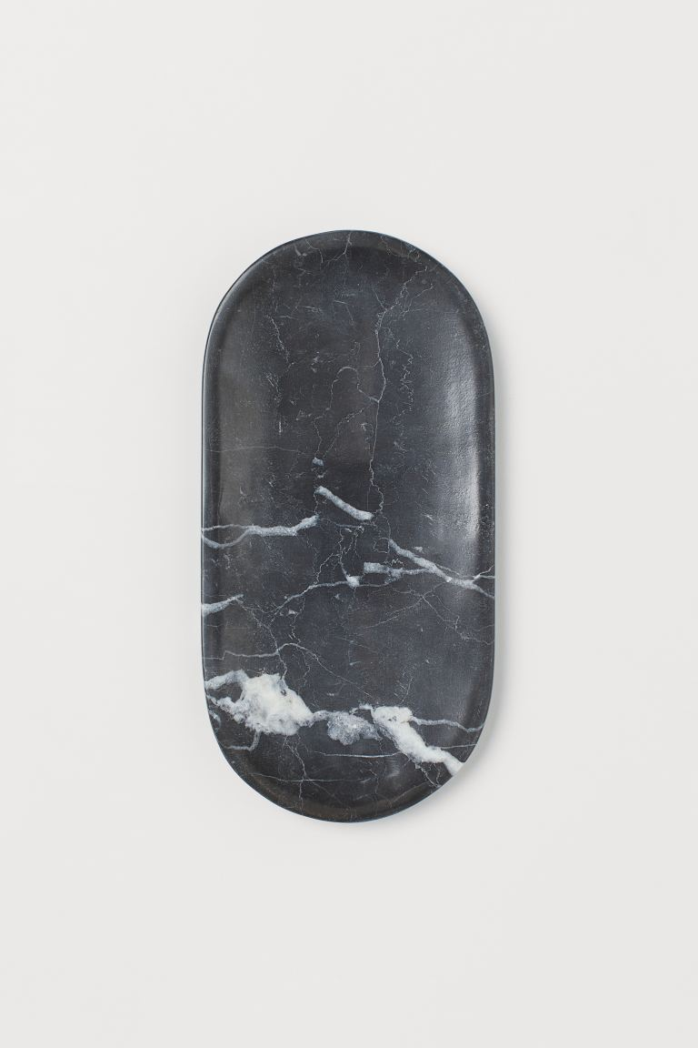 Marble Tray - Black/marble - Home All | H&M US