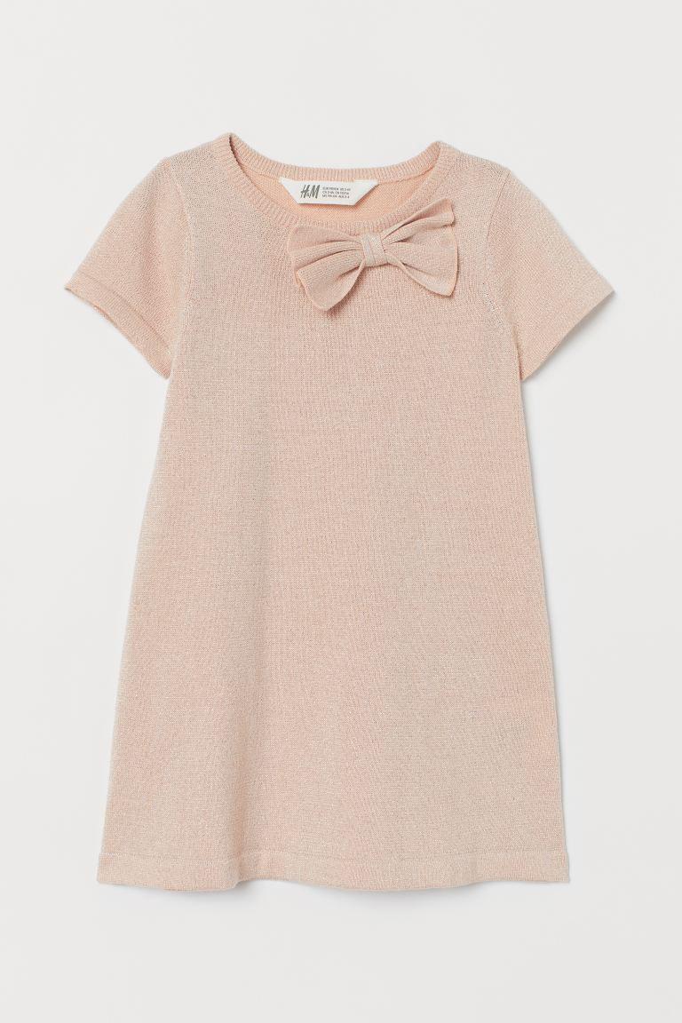 Glittery dress - Powder pink - | H&M GB