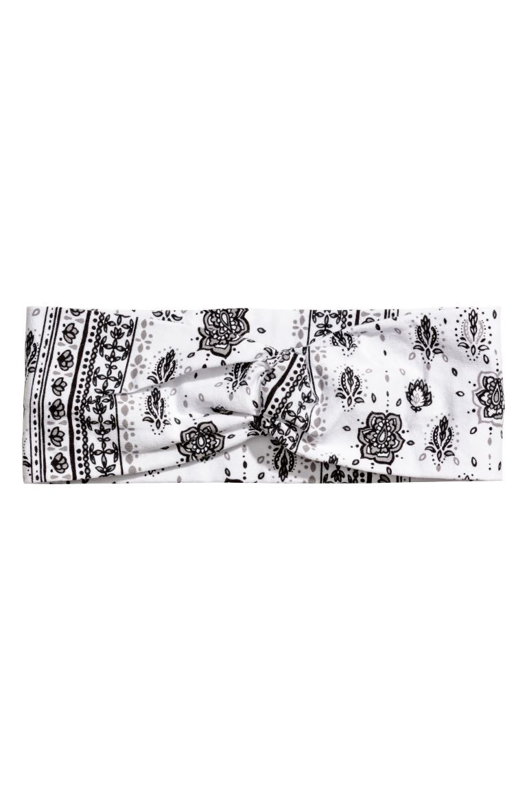 Patterned Hairband - White/patterned - Ladies | H&M US