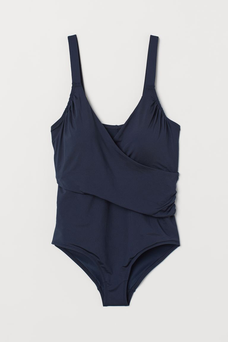 H&M+ Shaping swimsuit - Navy blue - Ladies | H&M GB