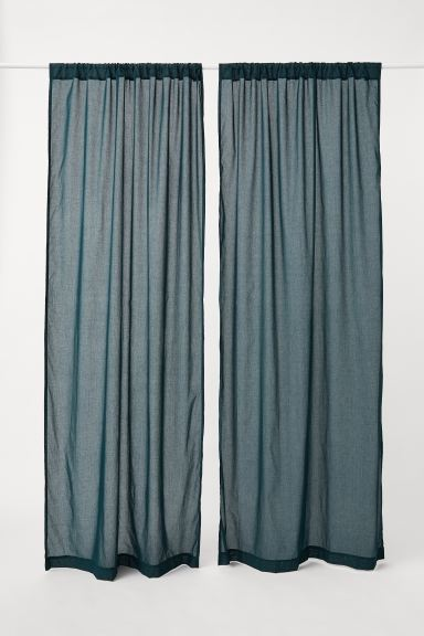 2-pack curtain lengths - Dark green - Home All | H&M IE