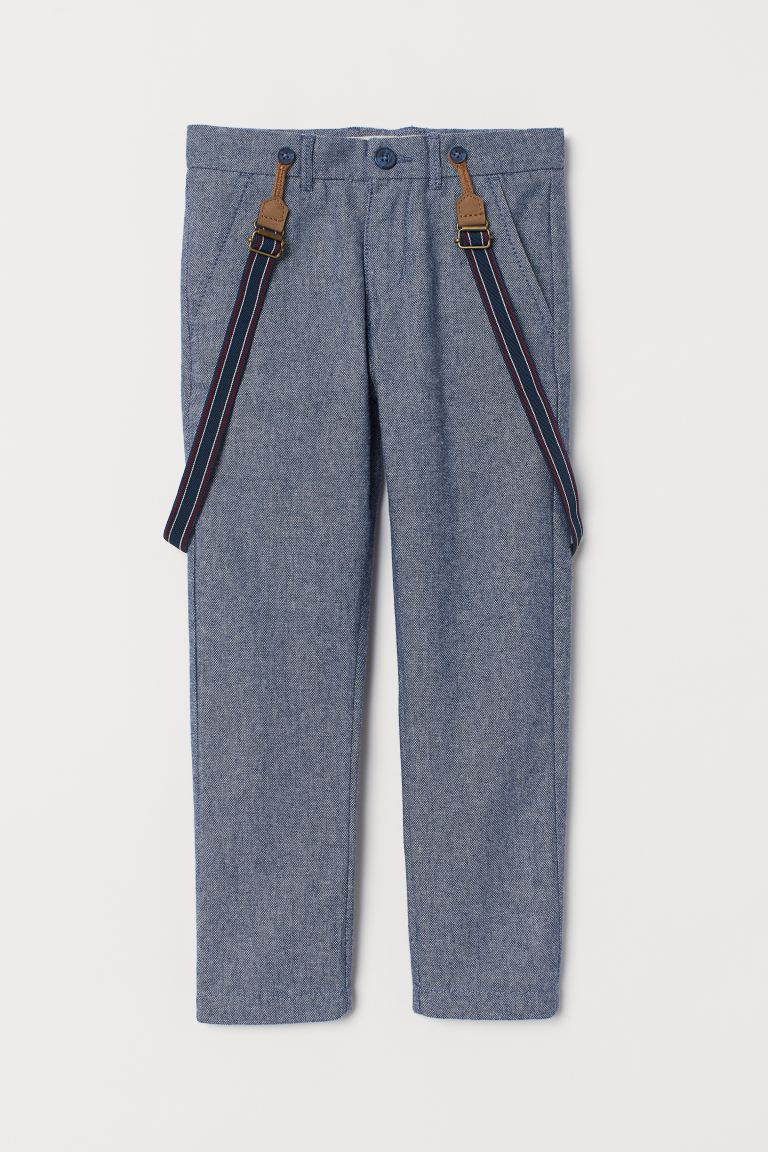 Trousers with braces - Light blue - Kids | H&M