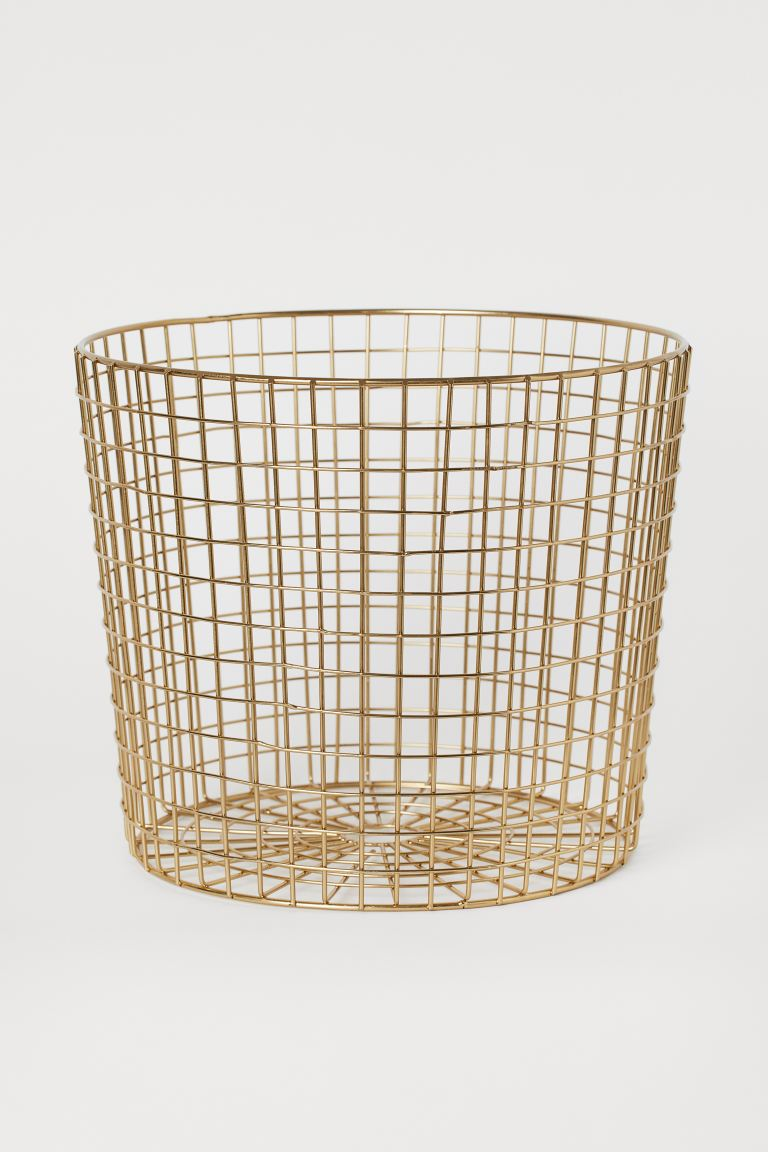 Metal Storage Basket - Gold-colored - Home All | H&M US