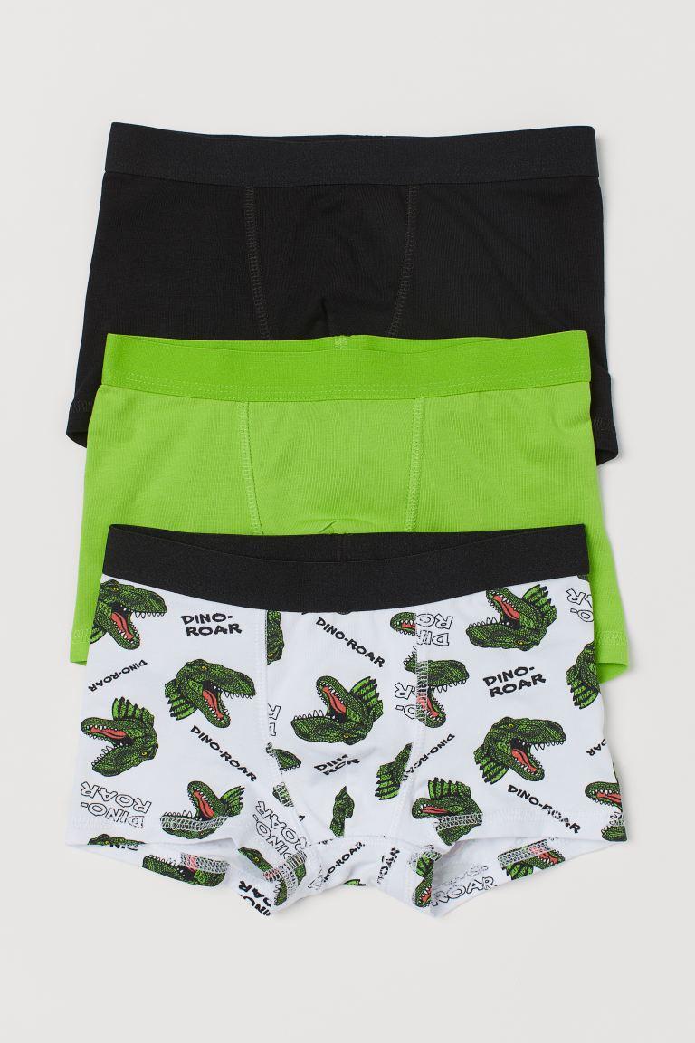 3-pack boxer shorts - Green/Dinosaurs - Kids   H&M GB