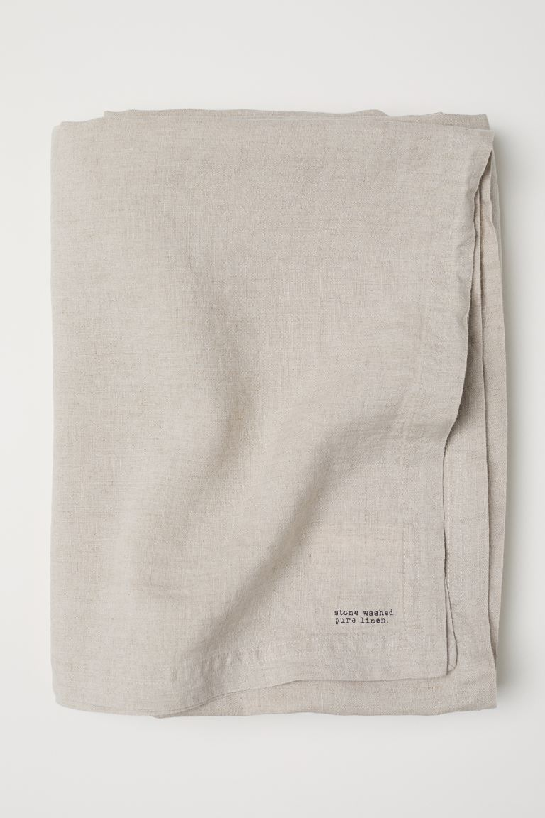 Washed Linen Tablecloth - Light beige - Home All | H&M US