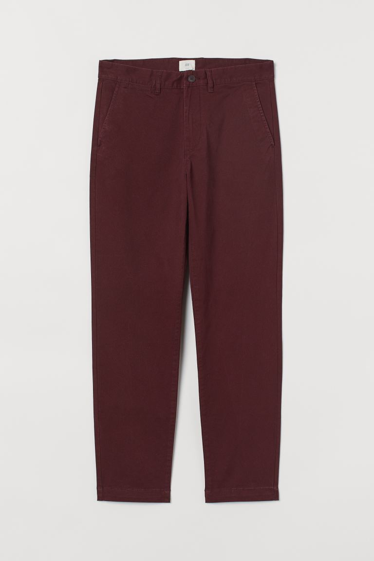Chinos Slim Fit Stretch - Burgundy - Men | H&M
