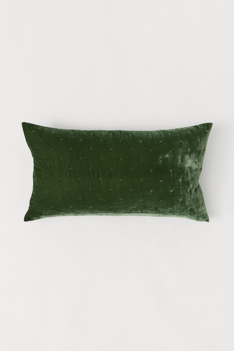 Velvet Cushion Cover - Dark green - Home All | H&M CA