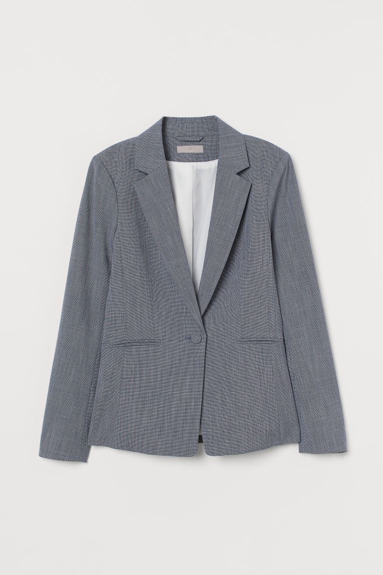 Fitted jacket - Blue marl - Ladies | H&M IE
