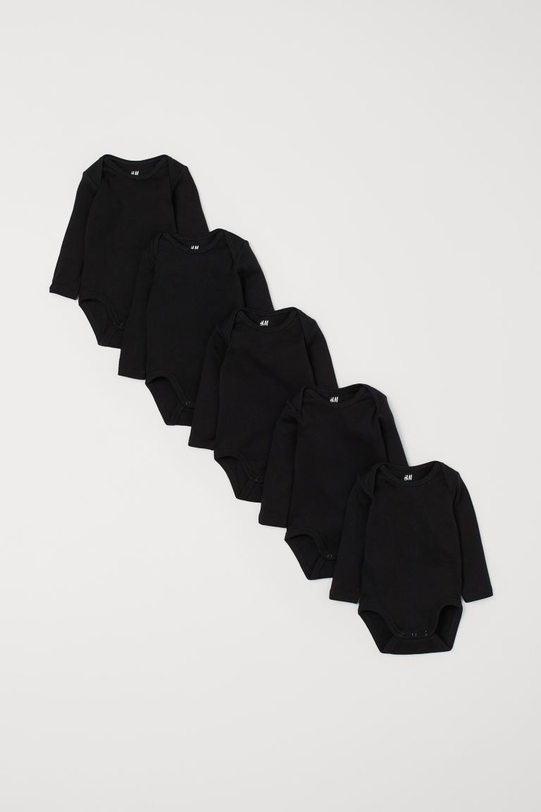 5-pack Bodysuits - Black - Kids | H&M CA