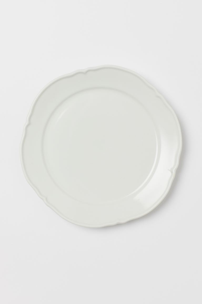 Assiette en porcelaine - Blanc - Home All | H&M FR