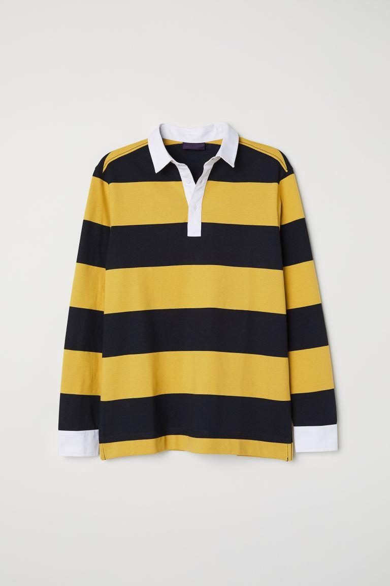 Mustard Yellow Black Striped Men H M Gb