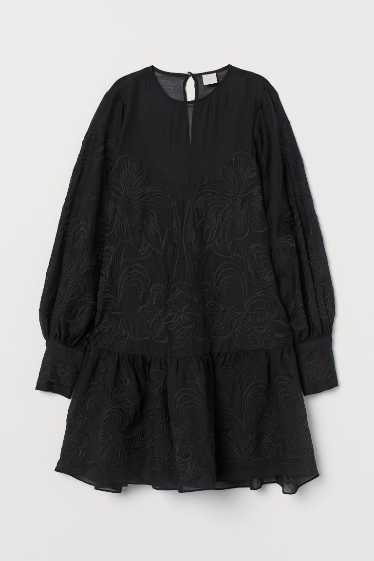 Lyocell-blend Tunic - Black -  | H&M US
