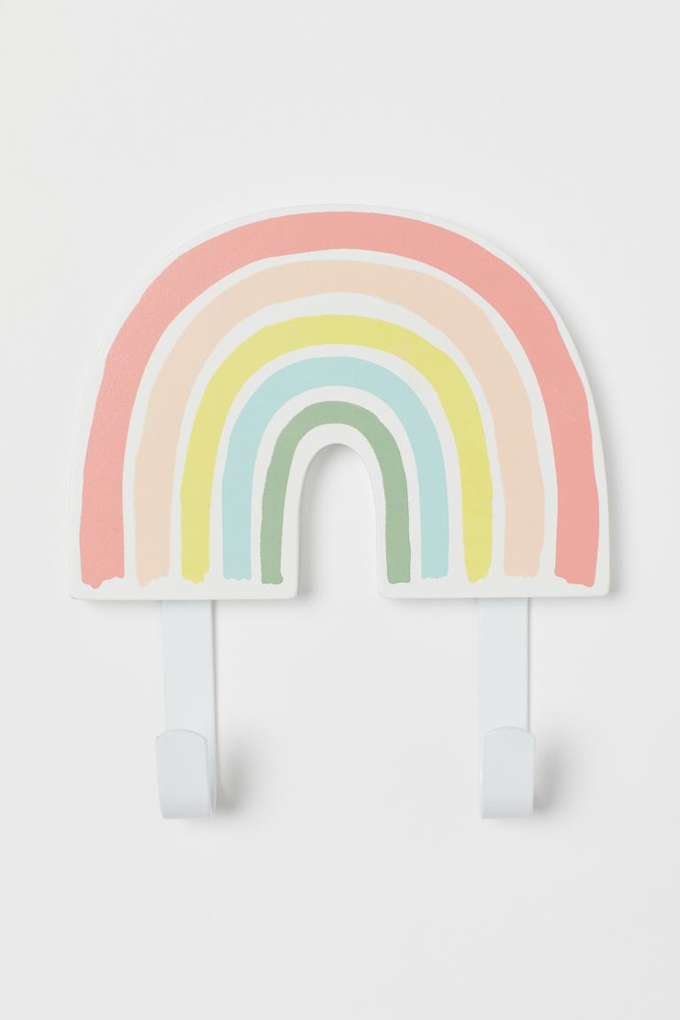 Metal and wood hook - Natural white/Rainbow - Home All | H&M GB