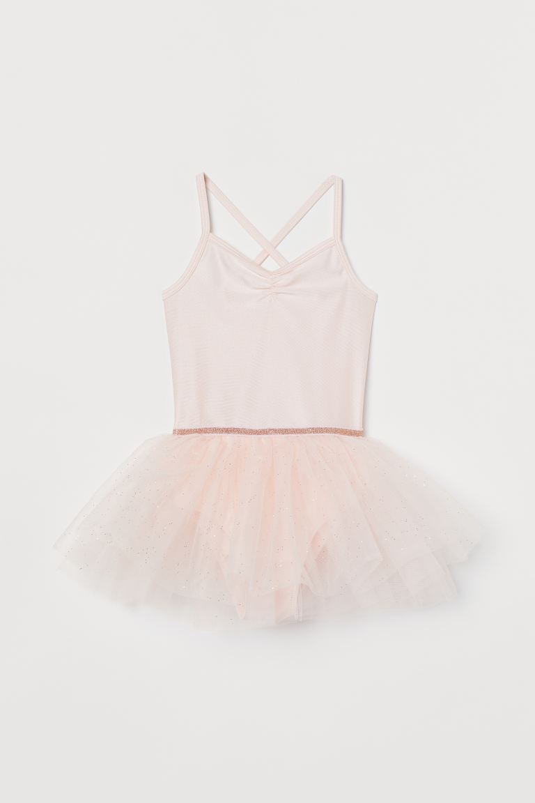 Dance dress with a tulle skirt - Light pink -  | H&M
