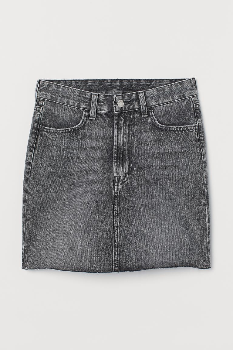 Denim Skirt - Gray/washed - Ladies | H&M US